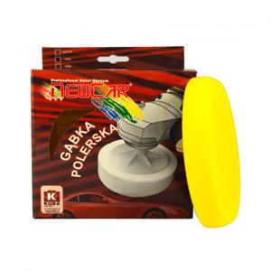 Gąbka Polerska cienka rzep 150x25 żółta