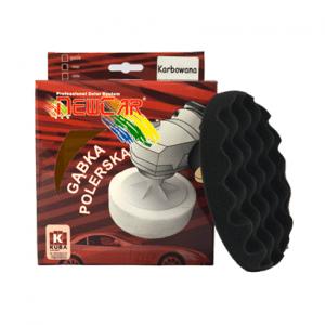 Gąbka Polerska Karbowana na rzep 150mm x 25mm czarna